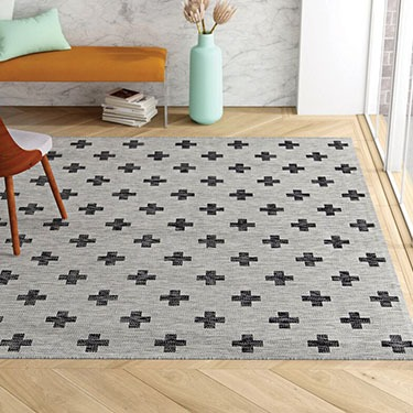 Umbria Gray Indoor Outdoor Area Rug
