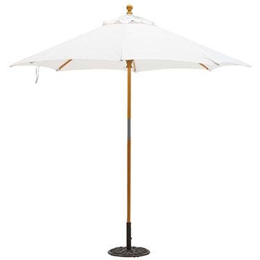 9ft Sunbrella Market Umbrella with Hardwood Frame