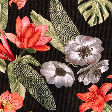 scanned tropical fabric